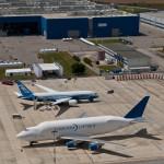 Boeing 787 Dreamliner and 747 Dreamlifter in Grottaglie