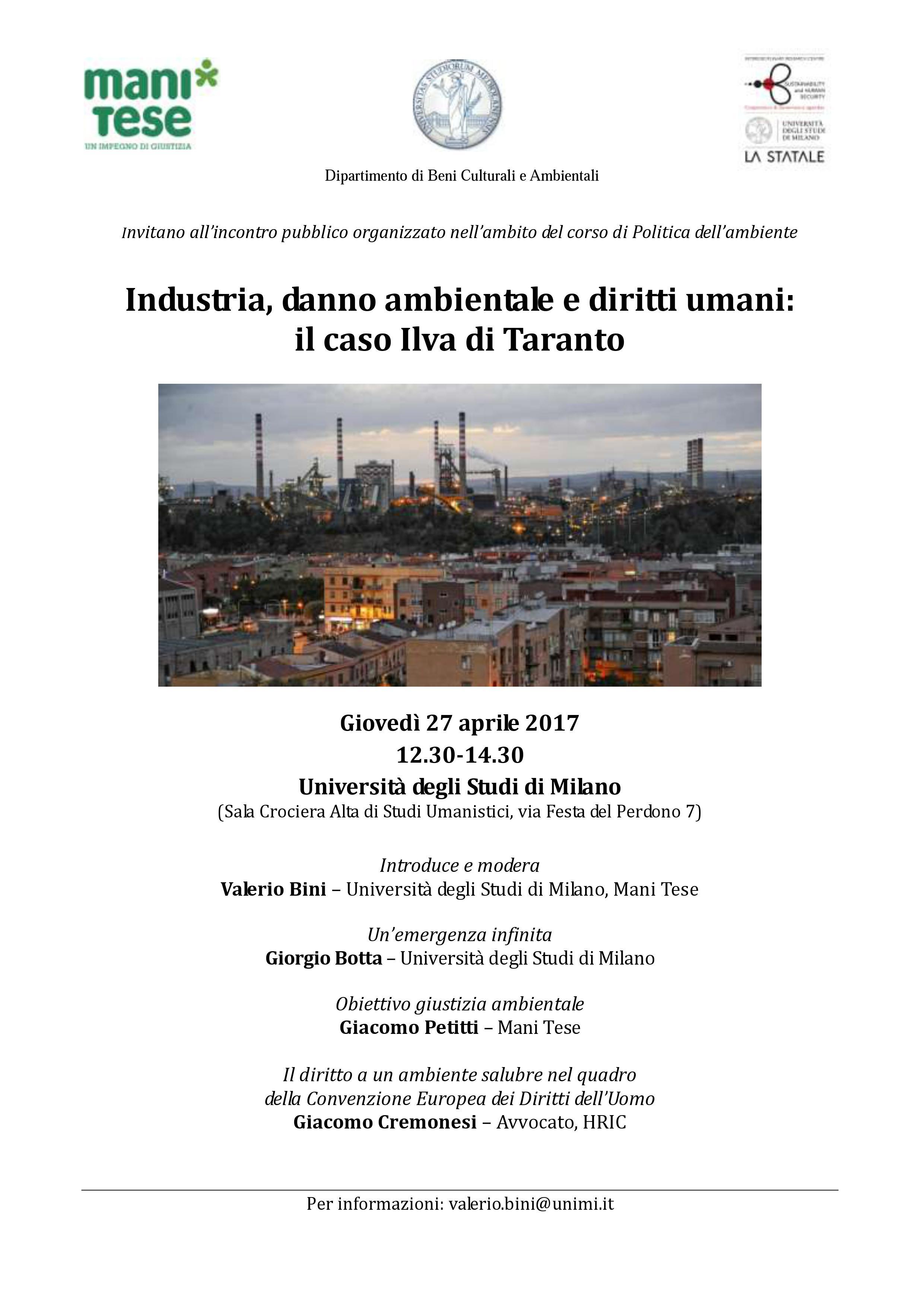 Caso Ilva a Milano